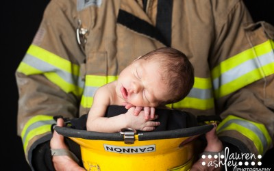 Newborn Boy In A Fireman's Hat | Newborn Baby Boy Photography