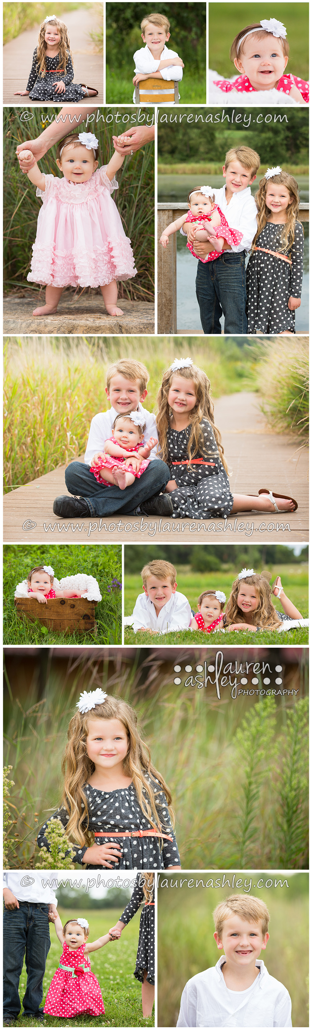 Outdoor children's photography session at Wickiup Hill Lodge in Toddville, IA