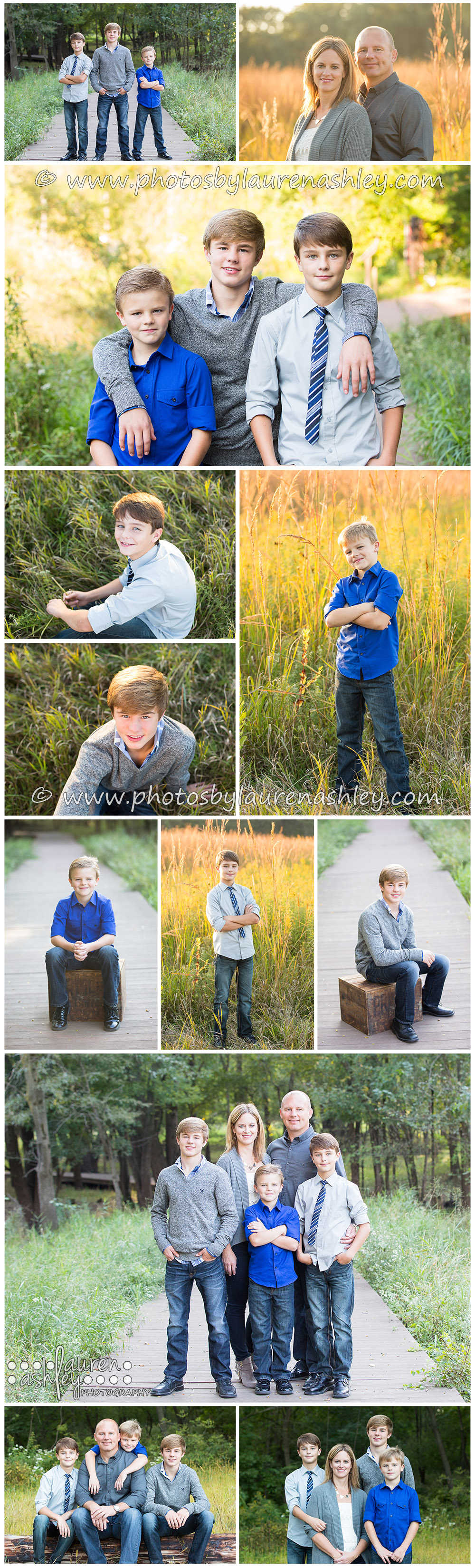 Family Photography with Lauren Ashley Photography at Indian Creek Nature Center in Cedar Rapids, IA